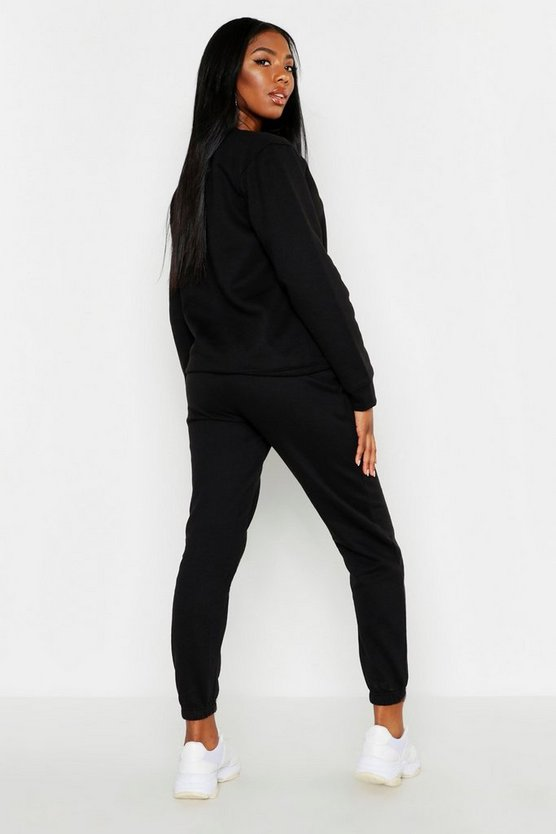 Oversized Basic Cuff Bottom Jogger