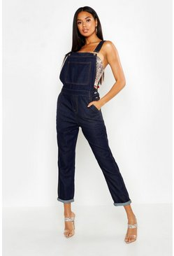 Womens Dark blue Denim Dungarees