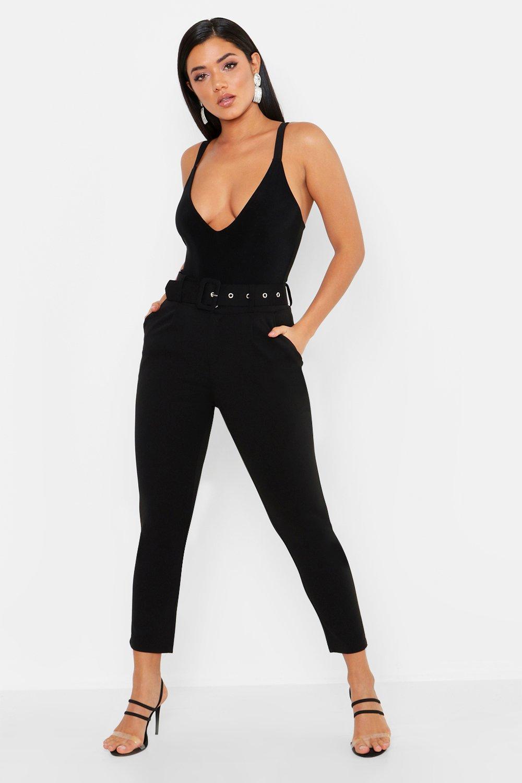 Self Belt Tailored Trouser