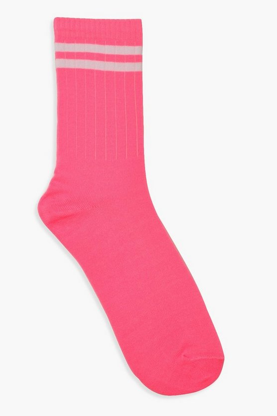 Neon Stripe Sports Socks