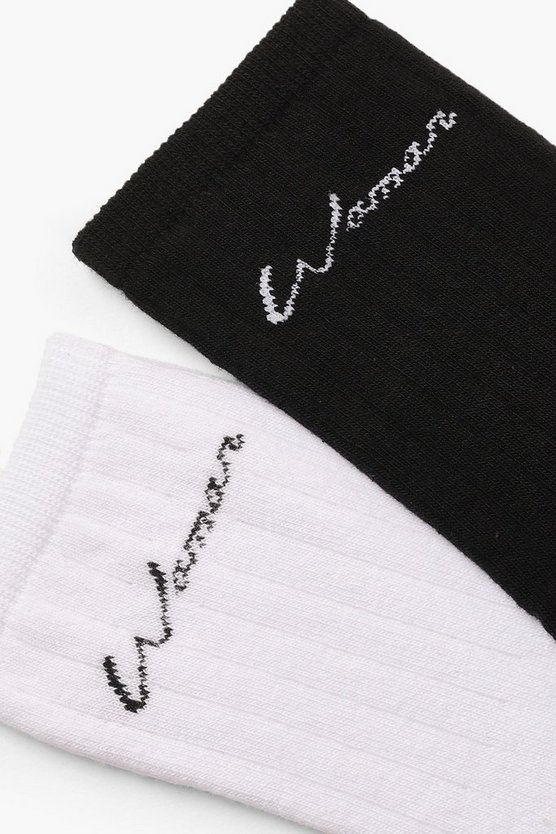 2 Pack Woman Slogan Socks