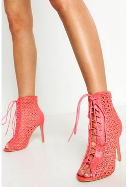 Coral Woven Shoe Boots
