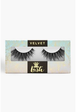 Womens Black Prima Velvet Lash - Triple Kiss