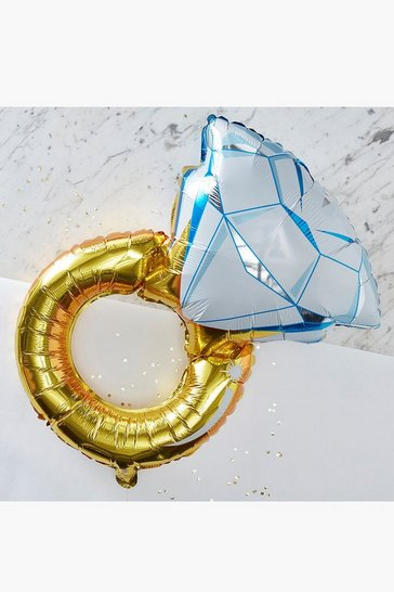 Multi Ginger Ray Foil Ring Balloon