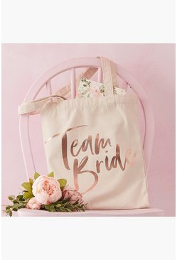 Team Bride Tote Bag, Cream