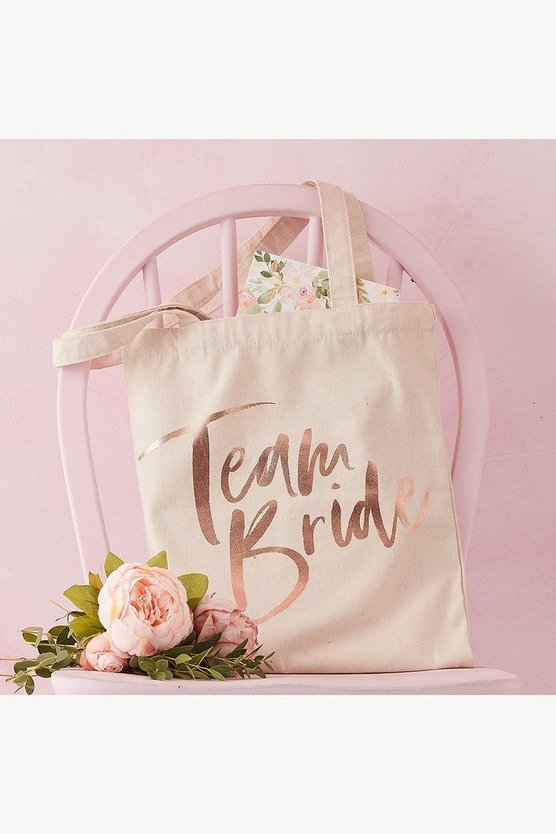 Womens Cream Team Bride Tote Bag