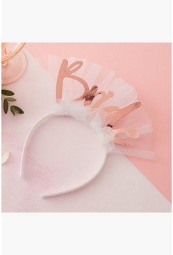 Ginger Ray Bride Headband, White