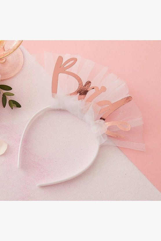 Womens White Bride Headband