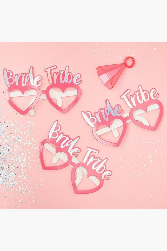 Womens Pink Bride Tribe Glasses