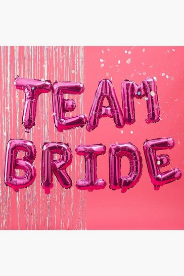 Womens Pink Team Bride Balloon Bunting
