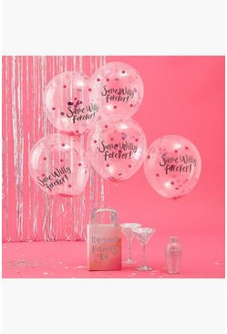 Womens Clear Same Willy Forever Confetti Balloons