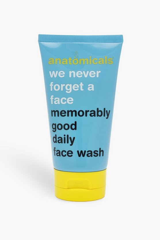 Womens Blue Anatomicals Daily Face Wash