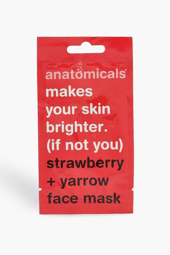 Womens Red Anatomicals Strawberry Face Mask