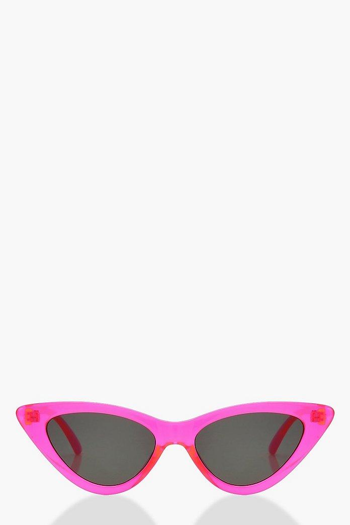 Neon Cat Eye Sunglasses   Boohoo