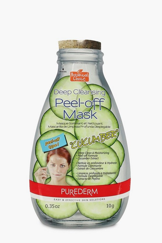 Womens Green Peel Off Cucumber Face Mask