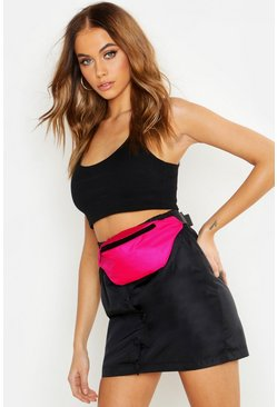 Womens Pink Neon Sports Bum Bag