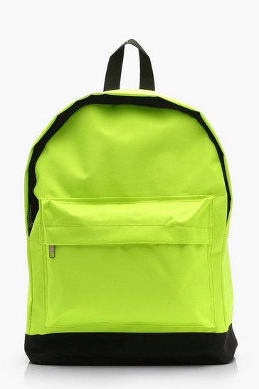 Womens Lime Neon Sports Rucksack