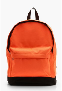 Womens Orange Neon Sports Rucksack