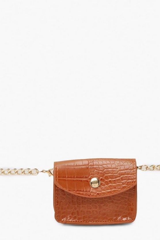 Mini Croc Chain Belt Bag