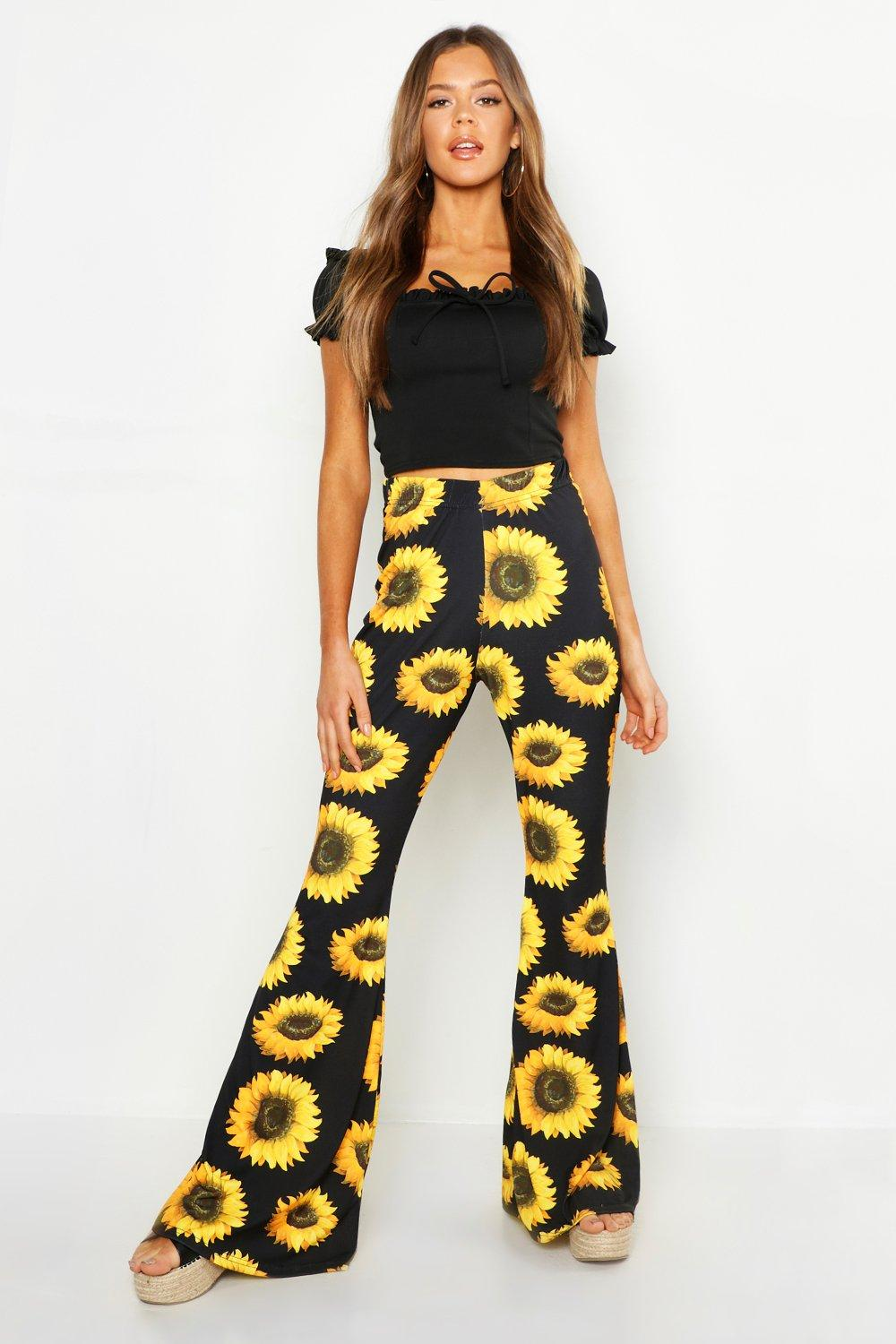 choose latest in stock superior materials Sunflower Kick Flare Trousers | Boohoo