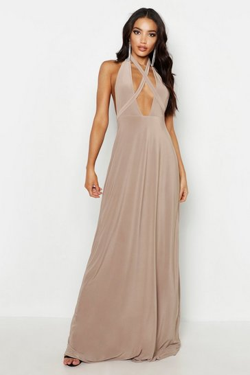 Womens Sand Soft Touch Multiway Maxi Dress
