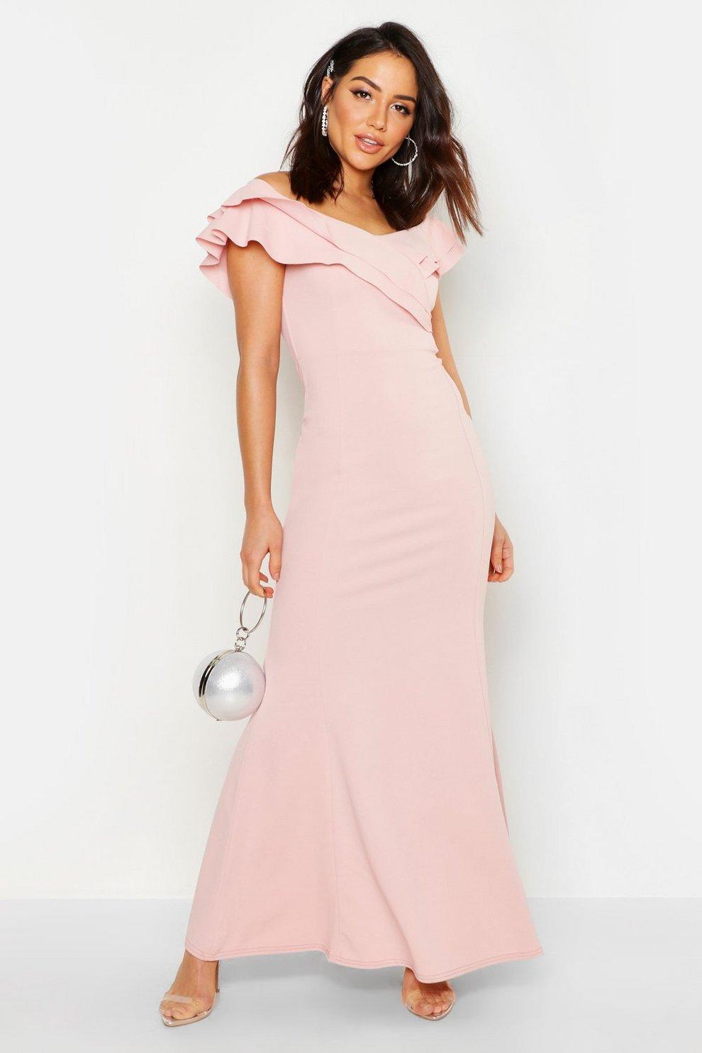 d8714ee974de Bardot Double Ruffle Sweetheart Maxi Dress | Boohoo