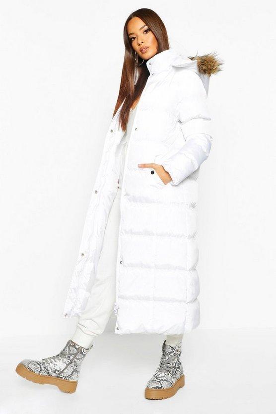 Faux Fur Maxi Panelled Parka