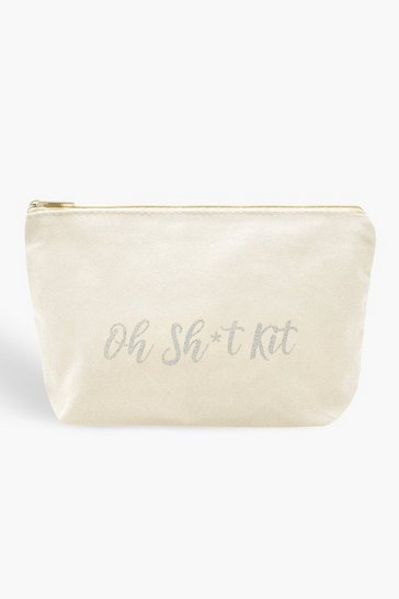 Womens White Oh Sh*t Kit Makeup Bag