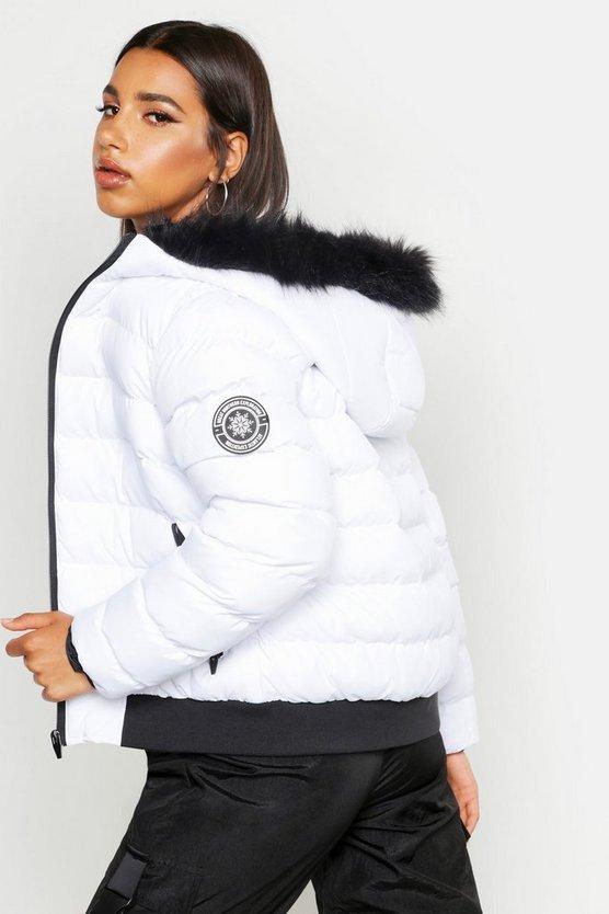 Faux Fur Hooded Puffer Jacket