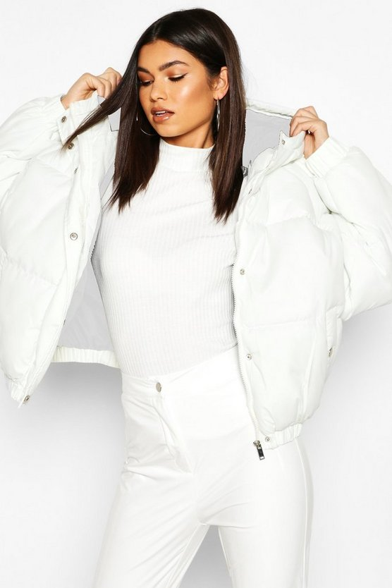 Oversized Raglan Puffer Jacket by Boohoo