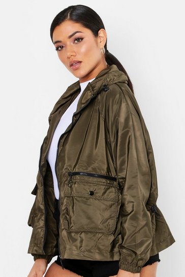Womens Khaki Pocket Detail Festival Mac
