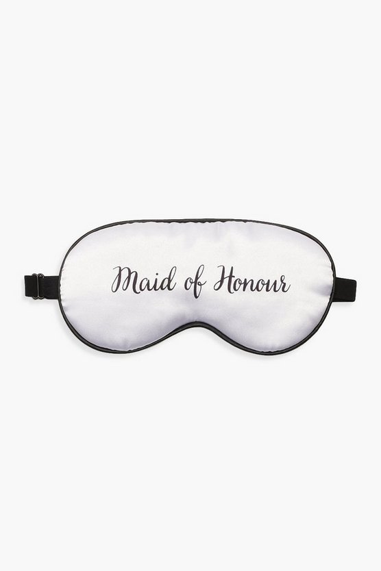 White Maid Of Honour Sleep Mask