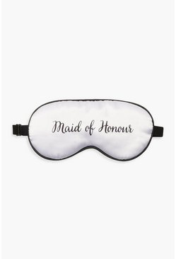 Womens White Maid Of Honour Sleep Mask