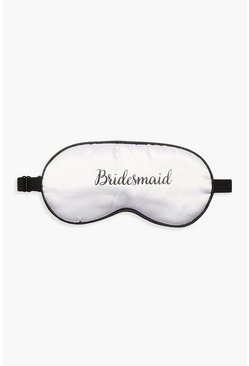 Womens White Bridesmaid Sleep Mask