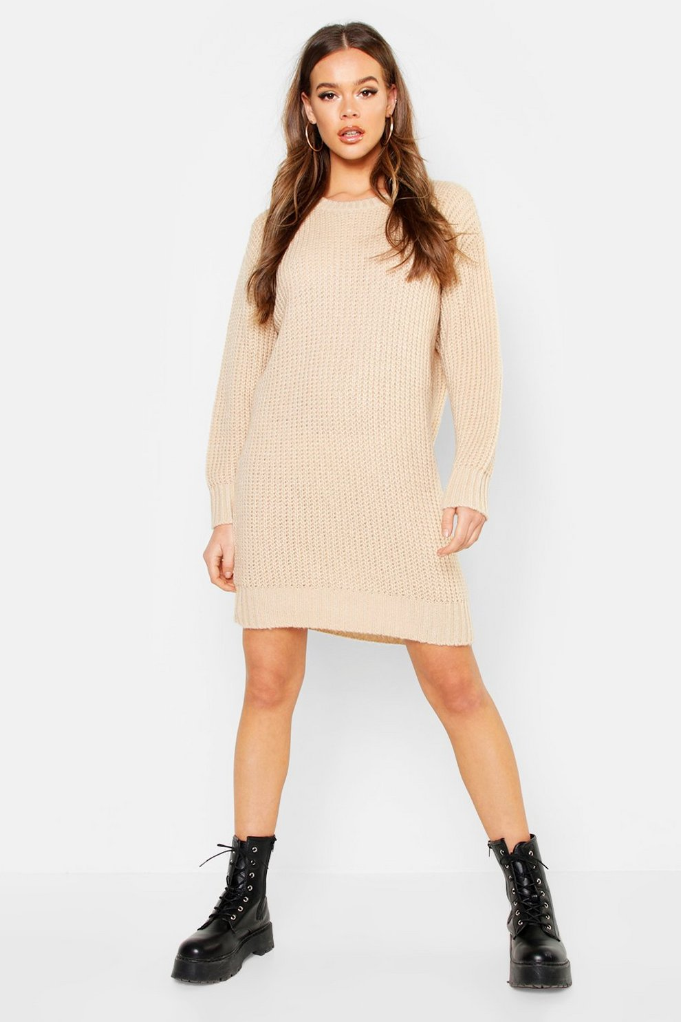 size 40 eab64 71317 Oversized Minikleid aus weichem Strick mit ...
