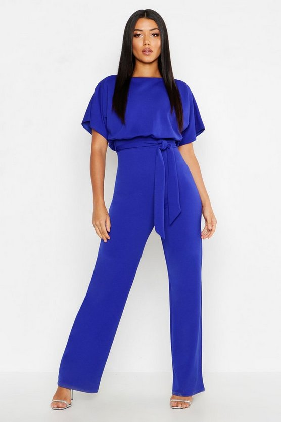 Womens Cobalt Double Layer Jumpsuit