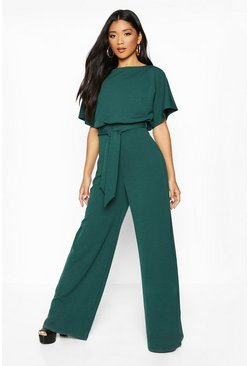 Womens Forest Double Layer Jumpsuit