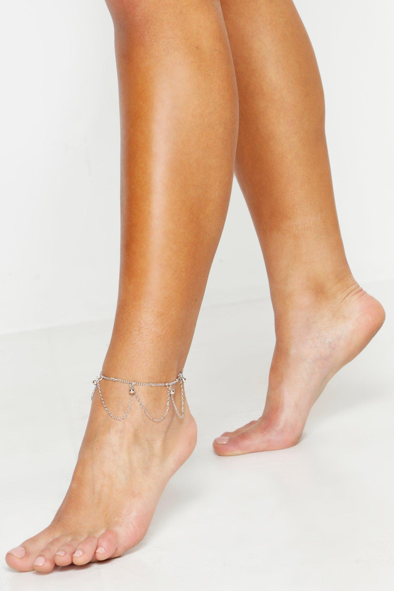 Delicate Drop Layered Anklet