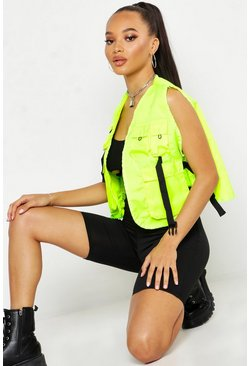 Womens Neon-lime Utility Vest