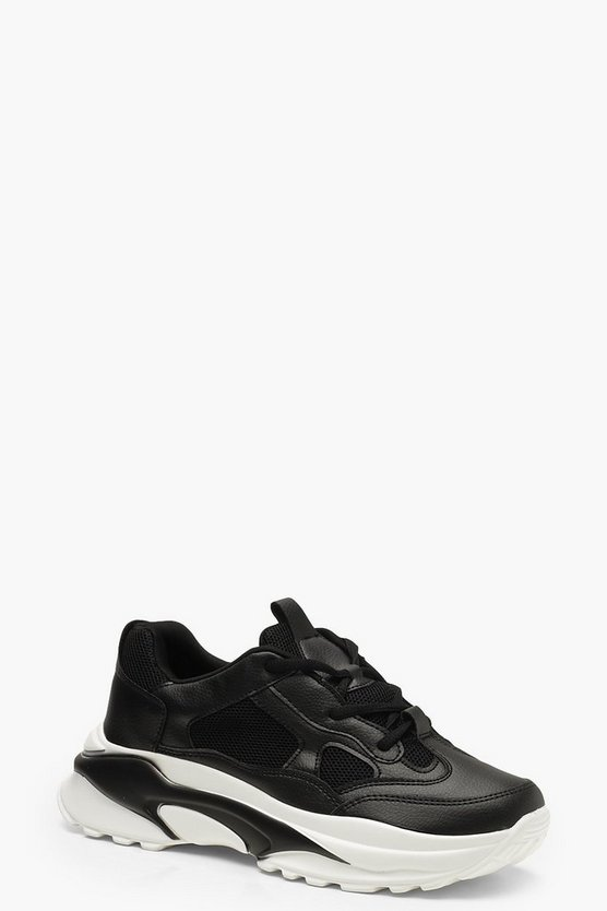 Chunky Sole Lace Up Trainers