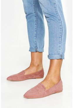 Womens Blush Pointed Slipper Flats
