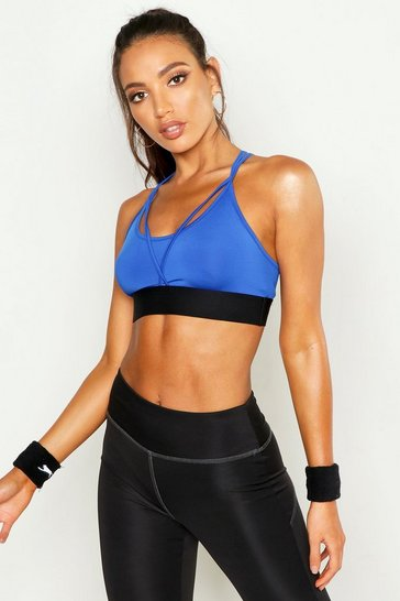 Womens Cobalt Fit Mesh Strapping Yoga Bra