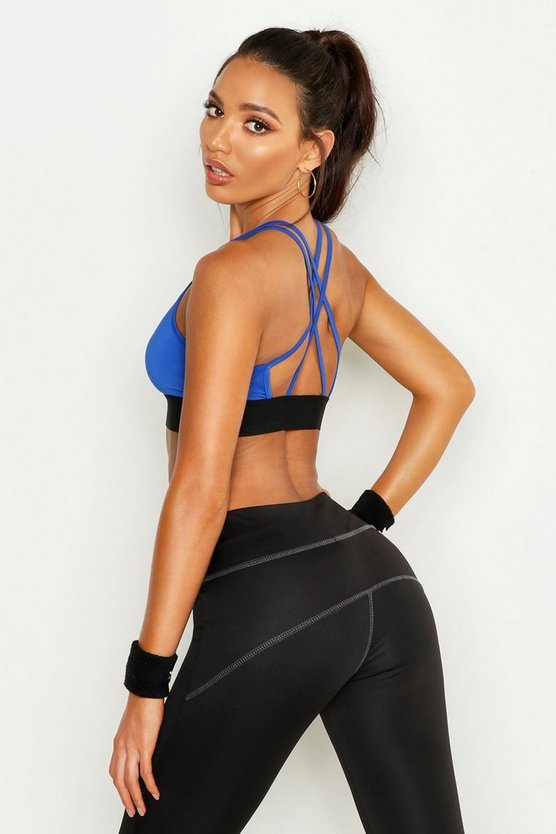 Fit Mesh Strapping Yoga Bra