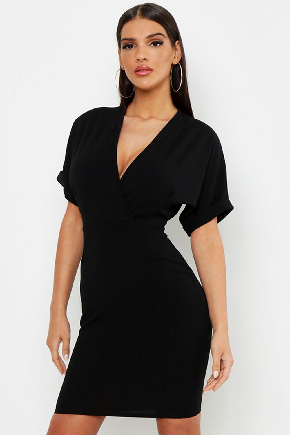 Wrap Over Belted Dress