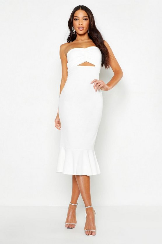 Bandeau Fishtail Midi Dress