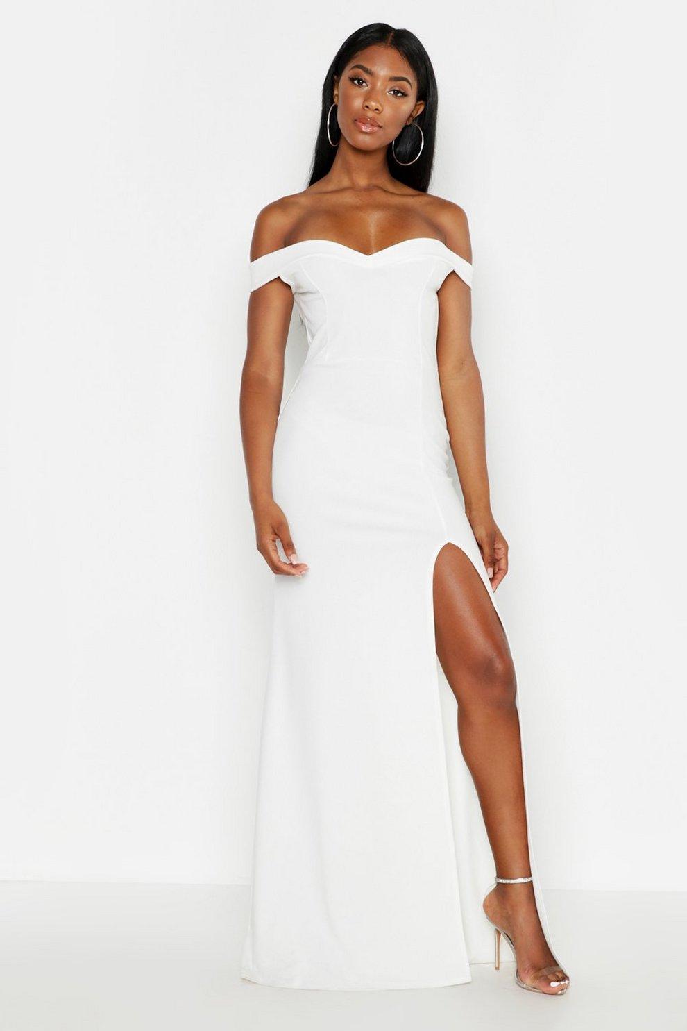 8a1fadacb6c Bardot Thigh Split Fishtail Maxi Dress