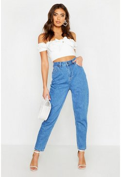 Mid blue High Waisted Mom Jeans