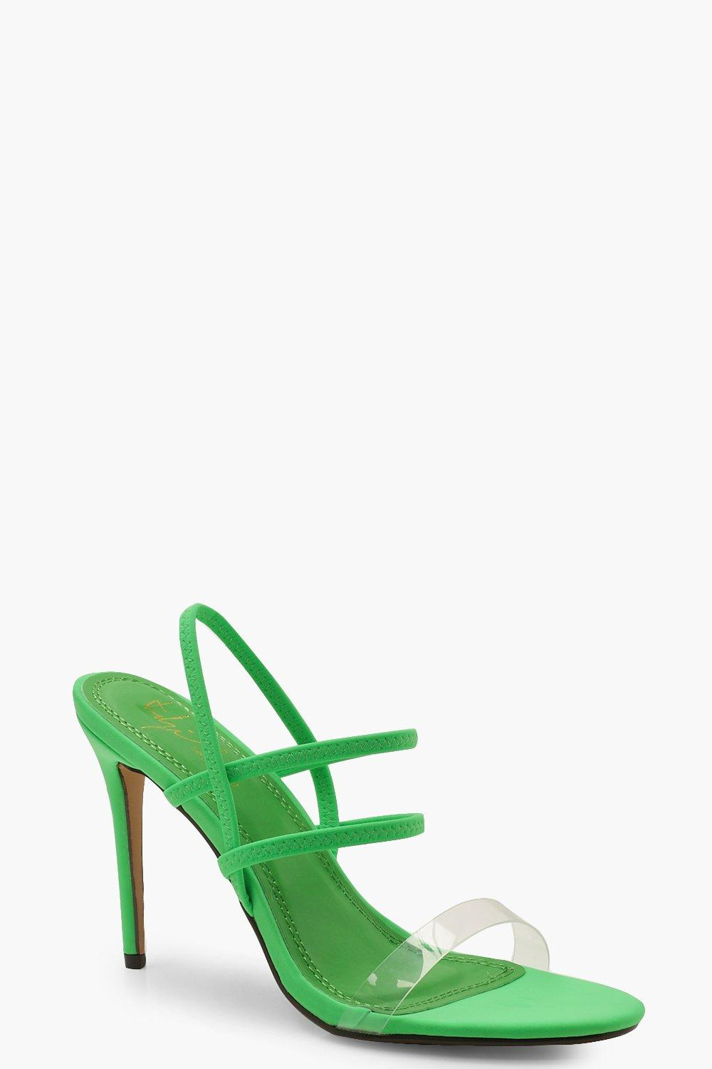 Strappy Neon Heels