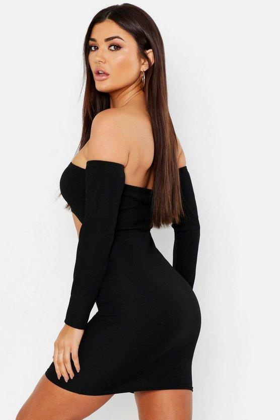 Cut Out Bardot Mini Dress