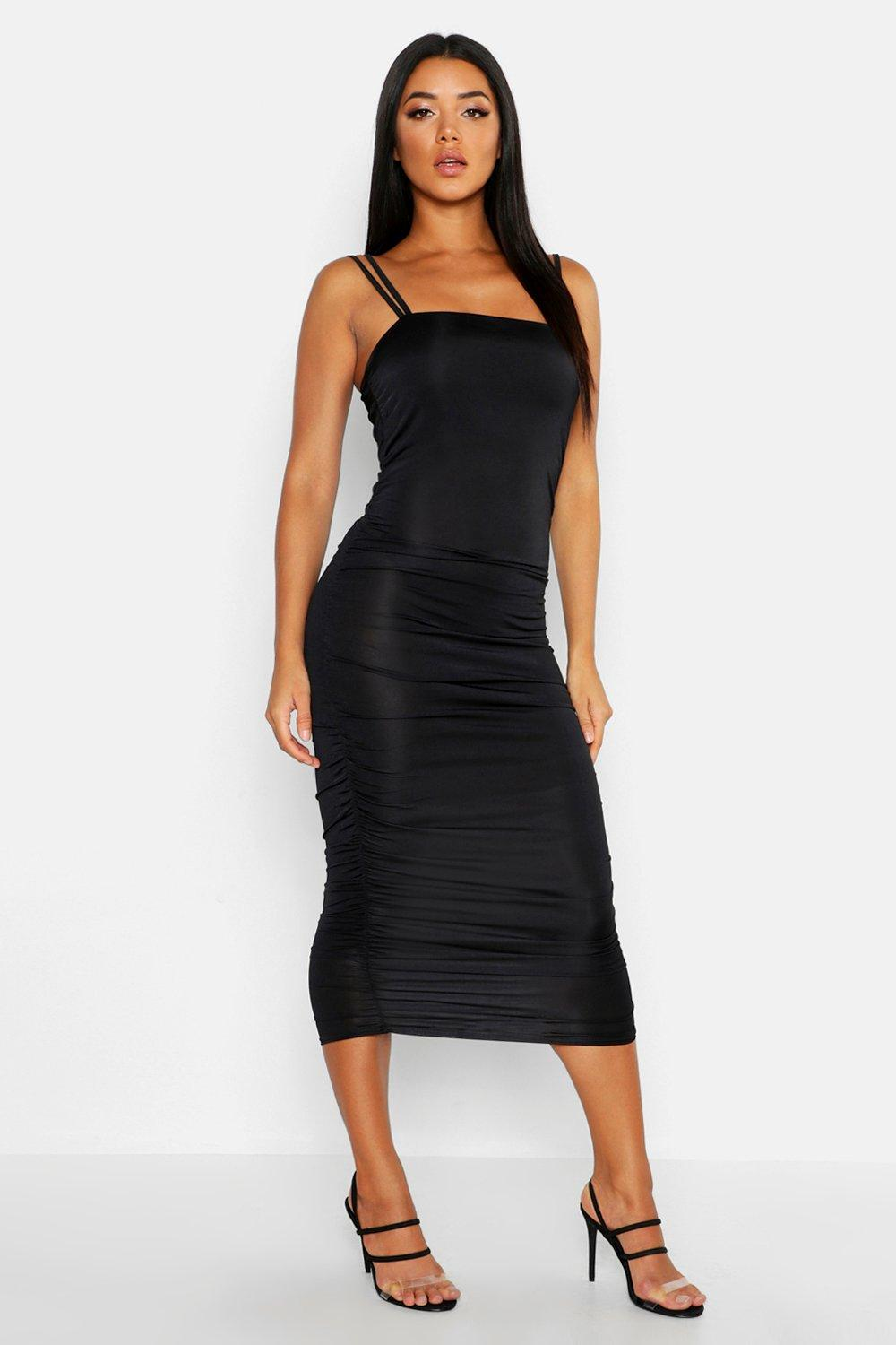Ruched Side Bodycon Mini Dress